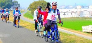 春だ!花見だ!タンデム自転車サイクリング!