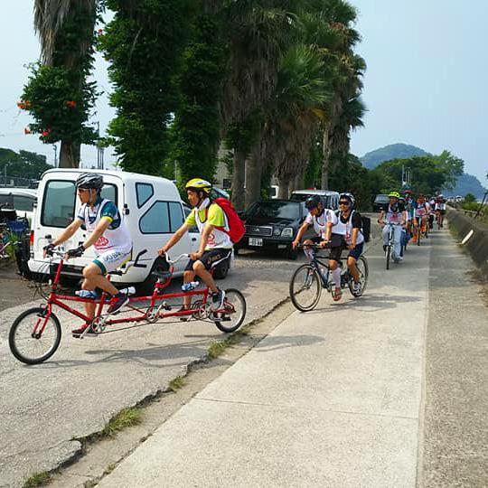 タンデム自転車NONちゃん倶楽部2019モンチッチ海岸