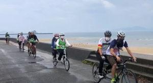 タンデム自転車と水上バイクを楽しむinモンチッチ海岸2020