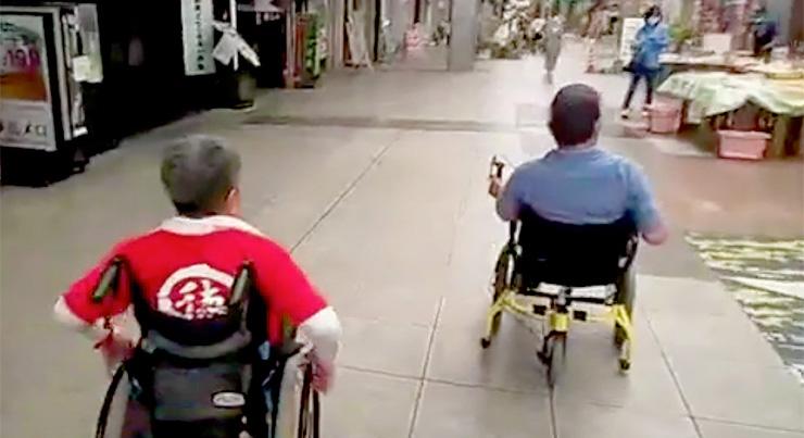 足こぎ車椅子COGYをNONちゃん倶楽部で体験